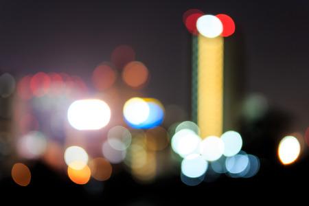 Night Lights of the City, Bokeh of Nightlife  photo
