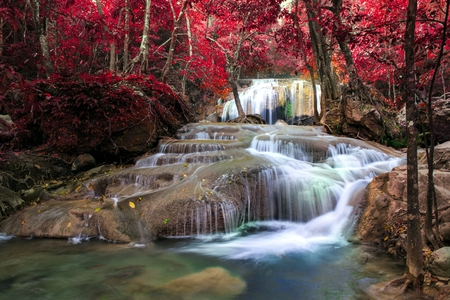 Erawan Waterfall, Kanchanaburi, Thailand. Stock Photo - 31173964