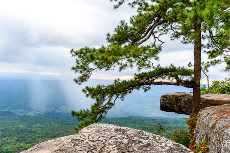 kradueng: Lom Sak cliff at Phu Kra Dueng in Thailand. Stock Photo