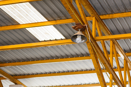 ceiling lamp: Ceiling lamp in warehouse.