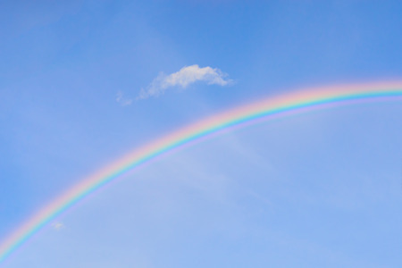 vibrance: Beautiful rainbow after raining.