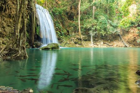 kanchanaburi: Erawan Waterfall, Kanchanaburi, Thailand.