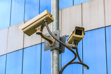 larceny: Security Camera and Urban Video. Stock Photo