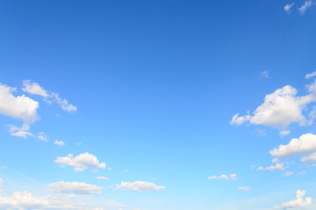 blue sky: Blue sky and clouds.