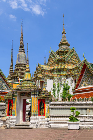 po: Thai architecture in Wat Pho at Bangkok, Thailand.
