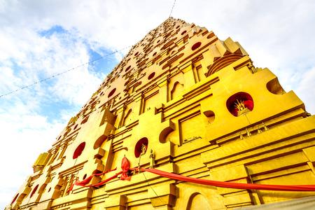 sangkhla buri: Buddhakaya Chedi at Sangkhla Buri Kanchanaburi, Thailand. Stock Photo