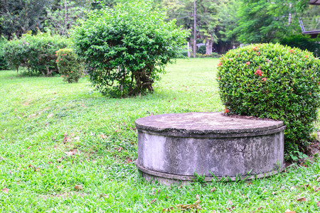 Cement septic tank for waste water. Stock fotó - 43583036