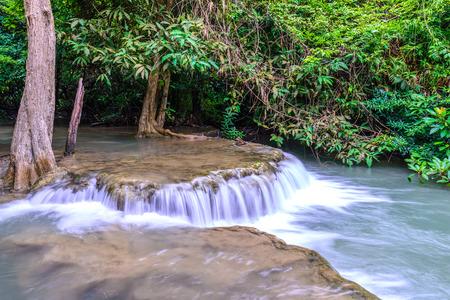 huay: Huay Mae Kamin Waterfall in Kanchanaburi, Thailand.