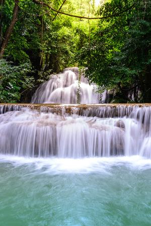 kanchanaburi: Huay Mae Kamin Waterfall in Kanchanaburi, Thailand.
