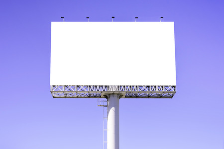 Blank billboard against blue sky for advertisement. Stock fotó - 44119891