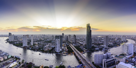 Bangkok skyline cityscape in Thailand. Standard-Bild