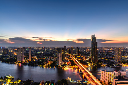 urbanscape: Bangkok skyline cityscape in Thailand. Stock Photo