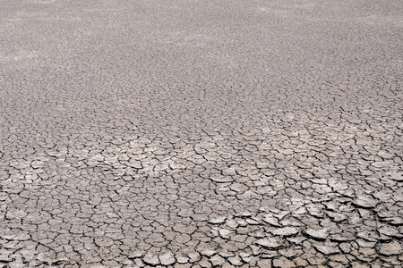 rainless: Dry cracked earth due to rainless. Stock Photo