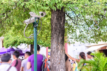guard house: Security camera for monitoring travel place.