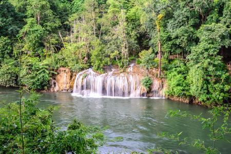 Sai Yok waterfall in national park, Kanchanaburi, Thailand. Stock Photo - 45826594