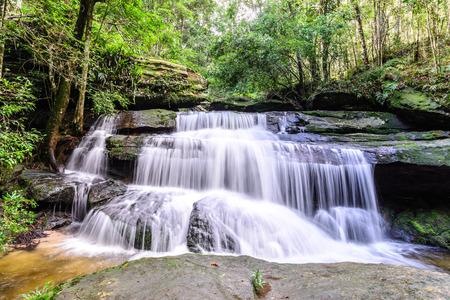 Tham Yai Waterfall at Phu Kradueng national park in Loei, Thailand.