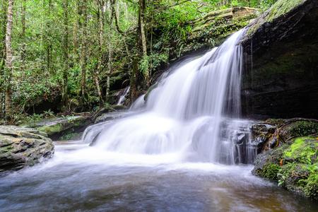 kradueng: Tham Yai Waterfall at Phu Kradueng national park in Loei, Thailand.