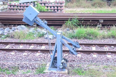 shunt: Trains shunt manual controller. Stock Photo