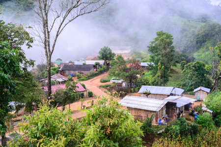 tribes: CHIANG MAI, THAILAND - 2015 November 04: Lisu Village in countryside of Chiang Mai, Lisu tribes live in northern of Thailand.