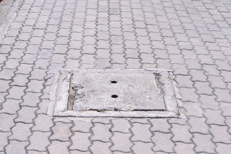 waterspout: Waterspout for drain on the urban street. Stock Photo