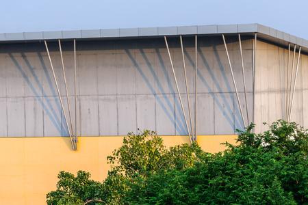 prefabricated: Architecture of warehouse prefabricated part development. Stock Photo