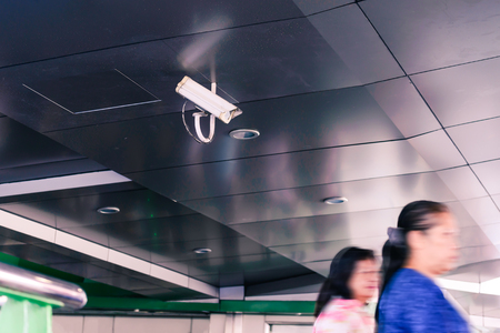 ir: Security IR camera for monitor events in city. Stock Photo