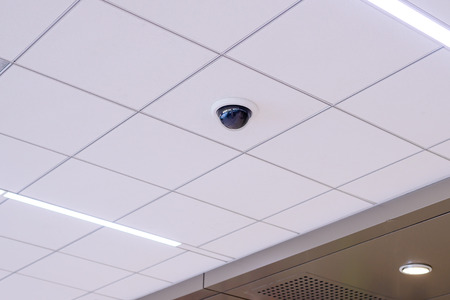 security monitor: Security IR camera for monitor events in building.