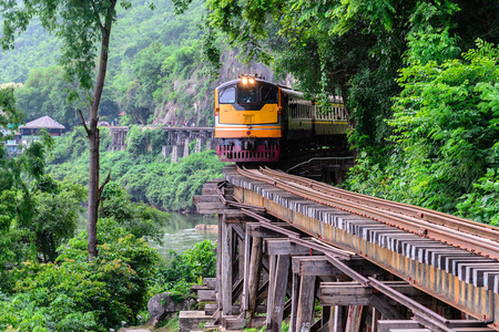 Death Railway, during the World War II at Kanchanaburi Thailand. Stock Photo
