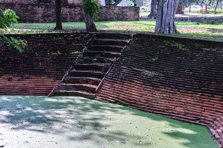 Archaeological well of Ayutthaya period.