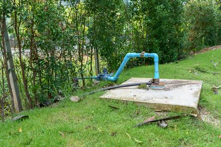 Agricultural water system connected to groundwater. Stock fotó