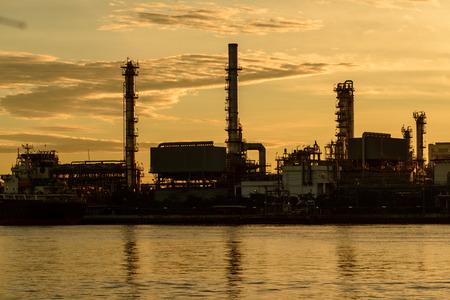 Oil refinery plant industry. Stock fotó