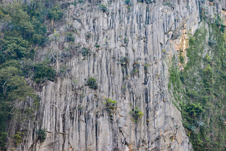 Extremely high mountain cliff for climbing. Stock fotó