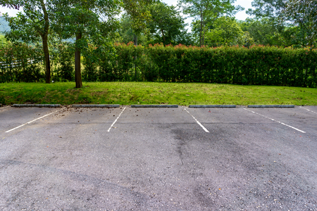 Free outdoor parking lot. Stock Photo