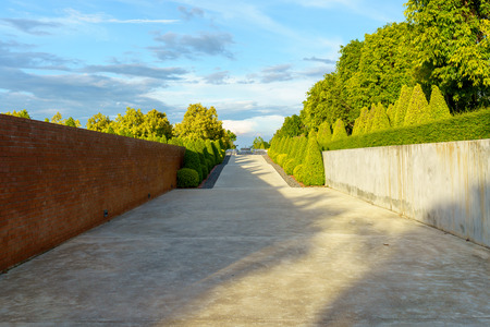 Beautiful design concrete pathway with nature.