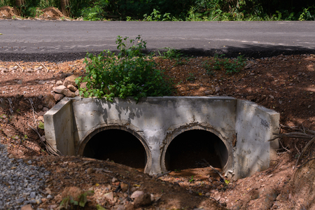 Drainage under rural road.