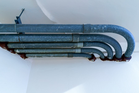 Building pipeline system for waste water manament. Banco de Imagens