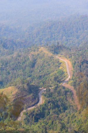 Beautiful road on mountain aerial view. Standard-Bild - 107711436