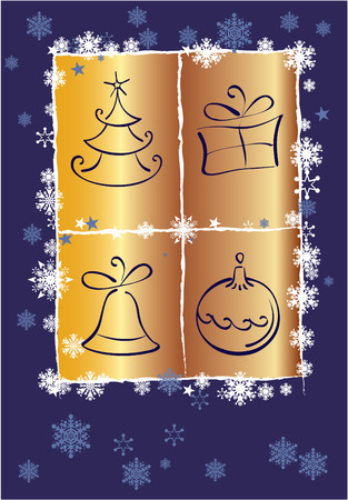 simbols: Vector card with simbols of Christmas Illustration