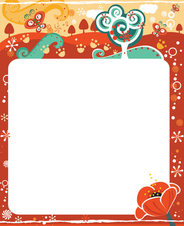 Frame for calendar - May Vector
