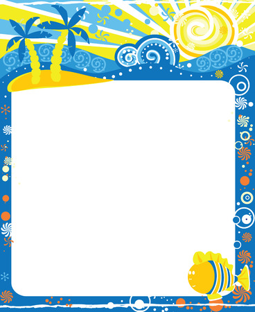 Frame for calendar - August Vector