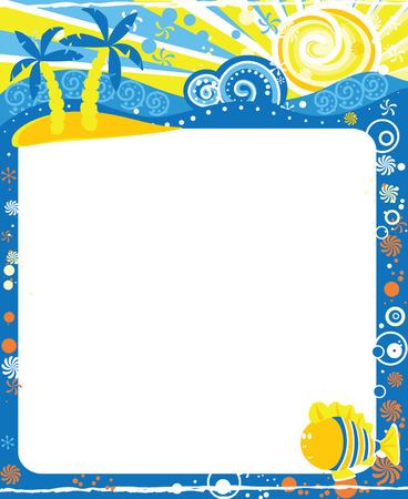 august calendar: Frame for calendar - August Illustration