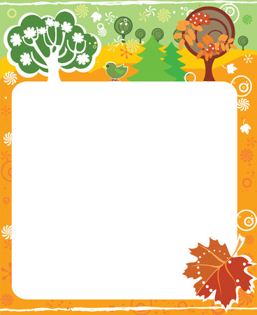 september calendar: Frame for calendar - September
