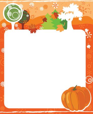 kalender oktober: Frame for calendar - October Stock Illustratie