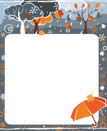 Frame for calendar - November Vector