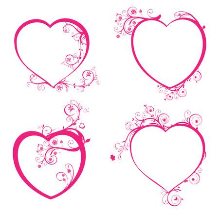 Vier mooie harten voor design