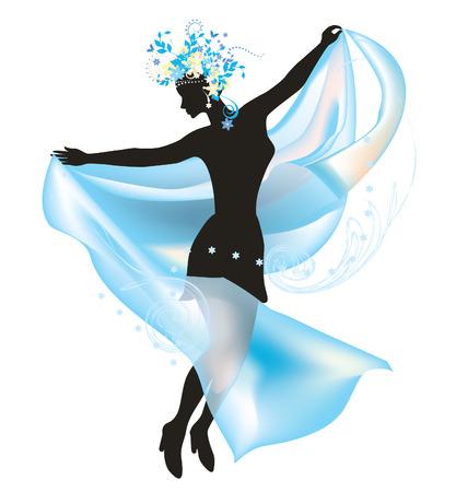 kopftuch: Dancing Frau mit Cobweb Kopftuch