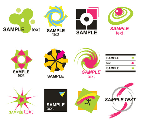 logo vector: Set of abstract elements for design