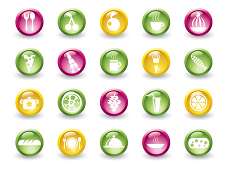 Set of food glossy icons Stock Vector - 4397738