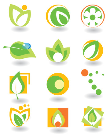 Set of abstract elements. Nature Stock Vector - 4426401