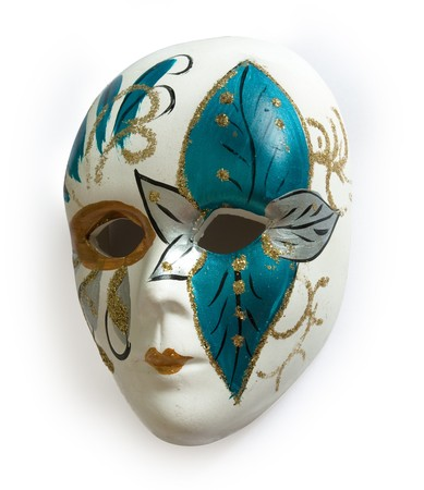 Venetian carnival mask isolated on white backgdound photo
